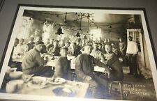 Rare Antique Southern American Military Fort Bliss WWI New Year Cabinet Photo!