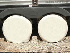 New Set Of 2 Wheel Tire Covers For RV Trailer Camper Car Truck And Motor Home