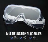 1x Safety Goggles Splash Resistant Eye Protection Glasses Anti-Fog Fit-over PPE
