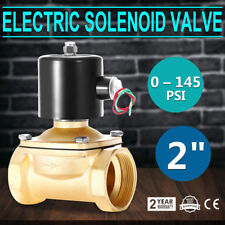 2 inch  110V  AC Brass Electric Solenoid Valve NPT Gas Water Air
