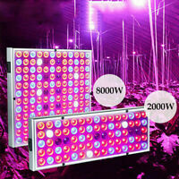 8000W LED Grow Light Hydroponic Full Spectrum Indoor Plant Flower Veg Lamp Panel