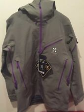 Haglofs Mens Couloir Pro Gore-Tex Soft Shell Ski Jacket. Driftwood. Large. NWTs