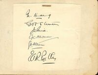 1930s group of  middlesex cricket autographs !
