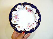 Antique porcelain dessert plate by Ridgway, Cauldon works. c.1840. Hand painted