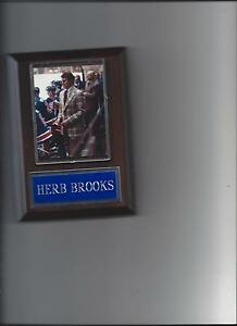 HERB BROOKS PLAQUE MIRACLE ON ICE HOCKEY USA OLYMPIC GOLD MEDAL US