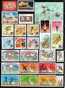 KL1018 Full Page Collection of all Different Sports Winter & Summer Olympics