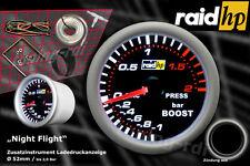 Raid hp Nightflight Turbo Ladedruck Anzeige Zusatz Instrument 52mm Schwarz Glas