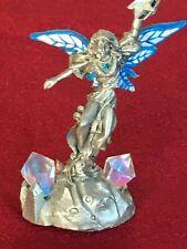 """Vtg D/C Gallo-Ridolfi Pewter Fairy- Dreams Fulfilled-#8062 """"Crystal"""" 1992-Gems"""