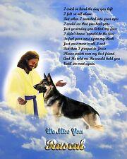 Unique Gift Idea-German Shepherd Memorial w/Jesus Personalized w/Pet's Name
