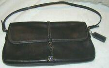 Coach~Black Leather  Clutch Baguette Handbag #-7573 purse HAND BAG