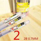 6PCS HB/2B 0.5 MM / 0.7 MM Lead Refills Resin Writing Tools Automatic Pencil