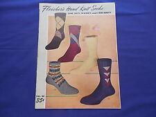 Vintage Fleisher's Hand Knit Socks Pattern Booklet Vol 86 1950