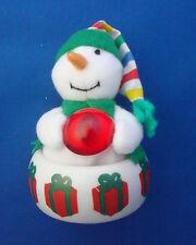 Christmas ornaments refrigerator snowman and tea light holder base