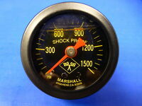 "Marshall Gauge 0-1500 psi NOS Nitrous Pressure 1.5"" Midnight Black Liquid Filled"