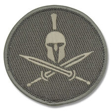 Morale Patch -SPARTAN Shield with HELMET - ACU-Light pattern - SILVER on FOLIAGE