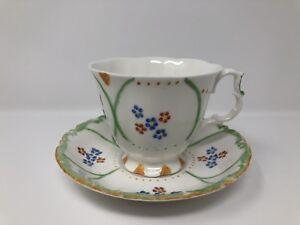 Royal Albert Tea Cup & Saucer - 'Hand Painted by B E Scott' - 1st Quality