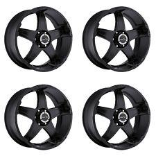 """Set 4 18"""" Vision 395 Wizard Black Wheels 18x9 6x135mm -12mm Ford Lincoln 6 Lug"""