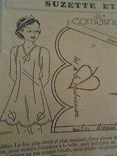 """PATRON ORIGINAL POUR LA POUPEE """" BLEUETTE LINGERIE COMBINAISON  JANVIER 1939"""