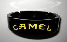 Camel Cigarettes Ashtray Ceramic Black Gloss Ash Tray Turkish Pub Bar Cigar NEW