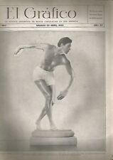 El Grafico Magazine Johnny Weissmüller Swimmer & Actor On Cover 1932