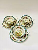 Royal Albert Chelsea Bird Teacup And Saucer (3 Sets)