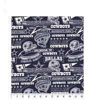 "NEW LOGO Stadium print NFL DALLAS COWBOYS 100% Cotton Fabric  9""x44"" football"