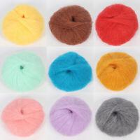 Plush Soft Thin Mohair Cashmere Wool Yarn DIY Woven Scarf Sweater Hand Knitting