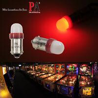 PA 20x #1893 #44 #47 #1847 BA9S 2 SMD LED Red Pinball Machine Light Bulb 6.3V