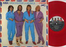 ABBA - Gracias Por La Musica JAPAN RED VINYL LP with LYRIC SHEET