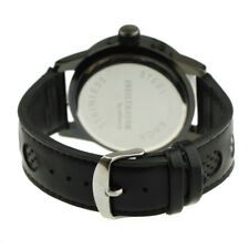 Infantry IF-005-ALLB-L 46mm Grey Dial Black Faux Leather Strap Wrist Watch for Men