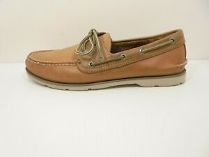 Sharp! Mens Leather SPERRY TOP SIDER LEEWARD Boat Shoes - Size US 11 M