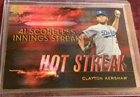 Clayton Kershaw 2015 Topps Hot Streak Retail Insert #HS-10, Los Angeles Dodgers