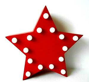 """8.5"""" Lighted Red Star Lamp Hang on the Wall or a Door Batteries included"""