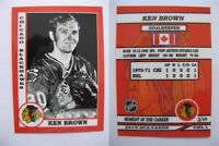 2015 SCA Ken Brown Chicago Blackhawks goalie never issued produced #d/10 rare