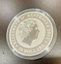 2015 Australia Australian Kookaburra 10 Oz $10 Silver Coin in Plastic Capsule