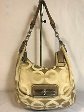 COACH KRISTIN Scribble Canvas Hobo Satchel Tote Purse Shoulder Bag 16784 USED