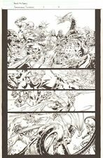 Annihilation Conquest #1 p.11 - Adam Warlock vs. The Select - 2008 by Tom Raney