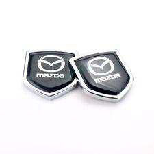 2x For Mazda Car Side Fender Emblems Rear Window Stickers Decals Badge Logo