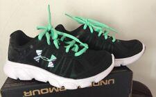 Under Armour BPS Assert 6 Girls Running School Shoes 13K Little Kids-BLACK-New