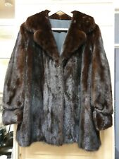 STUNNING SAGA MINK FUR COAT Brown/Mahogany
