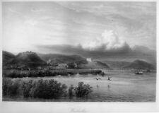 Walhalla bei Donaustauf, großer Original-Stahlstich von 1854