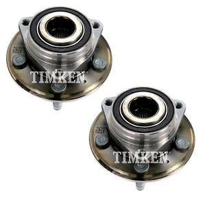 Pair Set 2 Rear Timken Wheel Bearing & Hub Kit for Cadillac CTS Chevy Camaro RWD