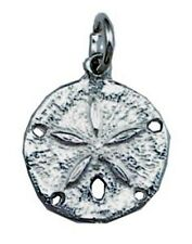 Sand Dollar Charm Made with Genuine .925 Sterling Silver 16.0 mm (0.6 in) new