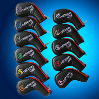 11pcs Craftsman Golf Zipper Iron Head Cover Set For Taylormade Mizuno Ping #4-XW