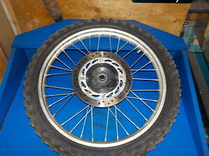 HONDA XR650L XR 650 L 2000 FRONT WHEEL 90/90 21,SLIGHT WOBBLE, USED