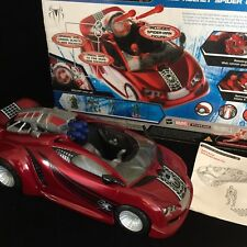 "SPIDER-MAN Battle Action 12"" Red CAR Web Rocket MARVEL 2007 HASBRO Toy Spiderman"