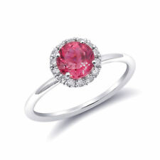Natural Neon Tanzanian Spinel 1.20 carats set in 14K White Gold