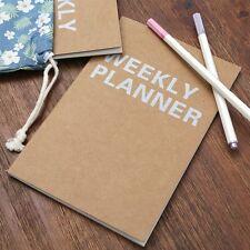 A5 Planner Notebook School Supplies Stationery Weekly Agenda Day Organizers