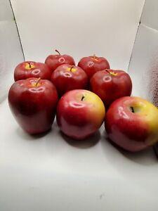 Vintage Artificial Fake Realistic Fruit  Red Delicious Apples (9) 2 bonus apples