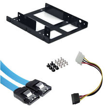 "2.5'' SSD HDD to 3.5"" Internal Hard Disc Drive Mounting Kit Bracket w/ Cables"